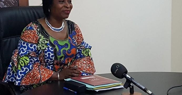 La Ministre de l'Economie Numérique et de la Communication, Madame Rafiatou Monrou