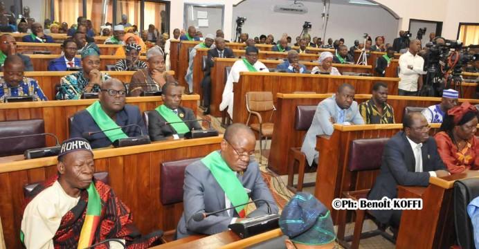 Une vue des députés à l'ouverture de la 1ère session ordinaire de 2017