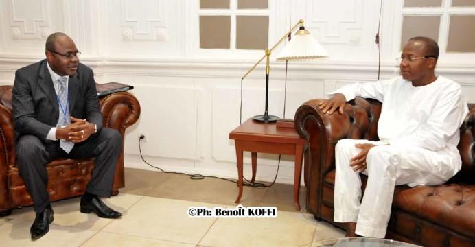 Le Président de l'Assemblée nationale échange avec le président de la Task Force de la Cedeao l'ancien Chef de l'État du Niger, le Général de corps d'armée, Salou Djibo
