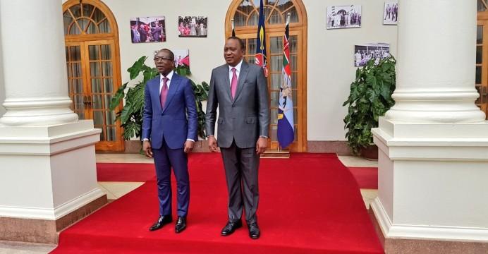 Le président Patrice Talon et son homologue du Kenya, Uhuru Kenyatta
