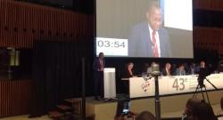 Intervention du président Adrien Houngbédji à la 43ème session de l'APF, Luxembourg
