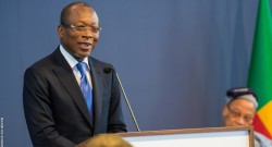 Le Président de la République, Son Excellence Monsieur Patrice Talon lors de la cérémonie d'installation de la Commission nationale de supervision du RAVIP