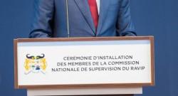 Adrien HOUNGBEDJI, Président de l'Assemblée Nationale à l'installation de la Commission de supervision du RAVIP