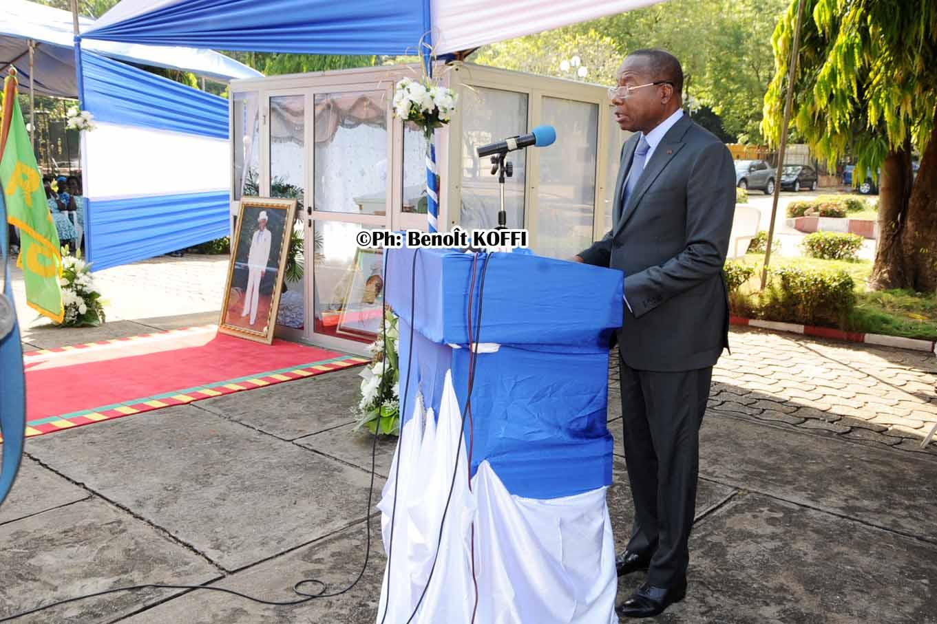 Hommages du président Adrien Houngbedji à feu Joseph Adjignon kèkè
