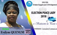 CHALLENGE AUTOUR DU TITRE DE PEACE LADY 2018: A LA DECOUVERTE D'EVELYNE QUENUM, LA CANDIDATE NUMERO 3