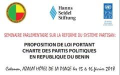Fin du séminaire parlementaire sur la réforme du système partisan : La proposition de loi portant Charte des partis politiques améliorée