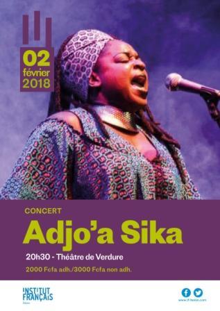 ADJO'A Sika en concert à l'Institut français