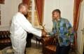 Le président du Syndicat des Conducteurs de Taxi-Moto de l'Ouémé et du Plateau venu exposé leurs difficultés au président de l'Assemblée nationale