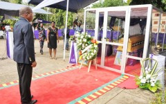 Cérémonie d'hommage solennel à l'Assemblée nationale: Le président Adrien Houngbédji rappelle les mérites de feu député Janvier Donhouahoue