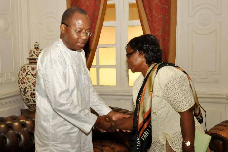 Mme Antoinette HOUNSOU-VÊ DOSSA, Présidente Nationale de l'Organisation des Femmes Catholiques du Bénin reçue par le Président Adrien Houngbedji