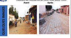 Réfection des voies à Porto-Novo