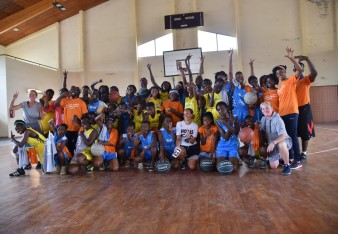 Photo de famille-Camp de basketball