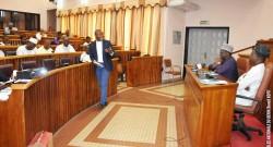Le ministre de l'économie et des finances, Romuald Wadagni