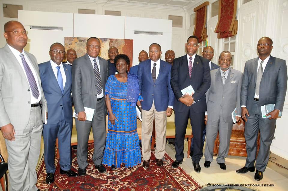 La délégation du Barreau béninois reçue par le Président de l'Assemblée nationale
