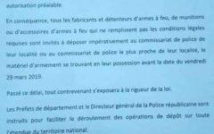 Bénin : La fabrication, la cession et la détention d'armes à feu et de munition interdites