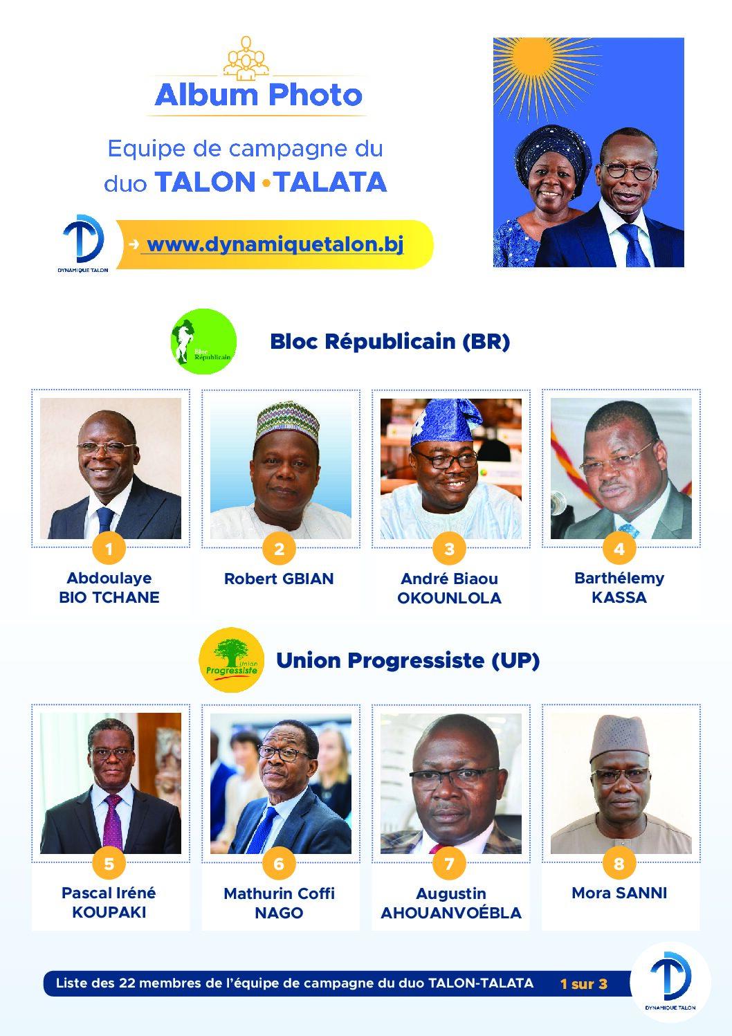 Présidentielles 2021: Lever de voile sur les 22 membres de l'équipe de campagne du duo TALON-TALATA